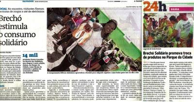 Brechó ES 2011 nos jornais de Salvador