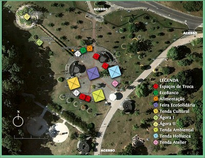 Mapa do Brechó ES 2011 no Parque da Cidade