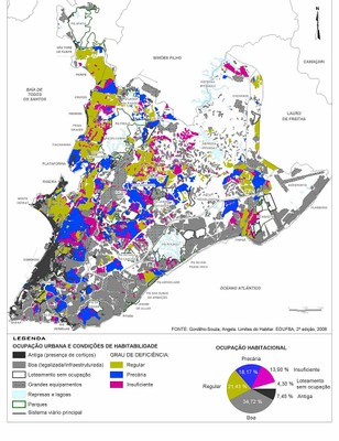 Identificação de áreas com habitabilidade deficiente, Salvador (2006)