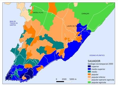Tipologia Sócioespacial Região Metropolitana de Salvador (2000)